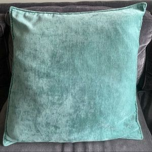 Turquoise Velvet Square Pillow Cover